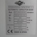 bateria reactiva lifasa 330 Kvar placa identificativa